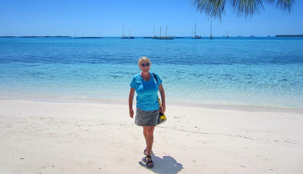 Heléne på Bahamas våren 2012